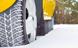 Neumáticos del invierno Imagenes de archivo
