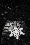Neumáticos del invierno Neumático para el invierno Imagen de archivo libre de regalías