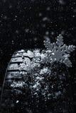 Neumáticos del invierno Neumático para el invierno Imagen de archivo