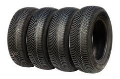 Neumáticos del invierno para el coche Imágenes de archivo libres de regalías