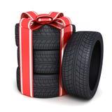 Neumáticos del regalo Fotografía de archivo