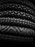 Neumáticos del vehículo en negro Imagen de archivo
