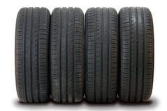 4 neumáticos del verano Foto de archivo