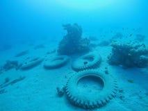 Neumáticos en la profundidad Foto de archivo