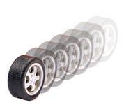 Neumáticos móviles Foto de archivo libre de regalías