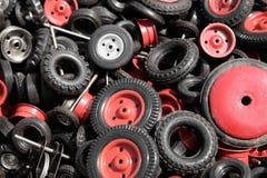 Neumáticos para los coches modelo Imagen de archivo libre de regalías