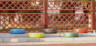 Neumáticos restaurados Fotos de archivo libres de regalías