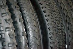 Neumáticos tachonados de la bicicleta Foto de archivo libre de regalías
