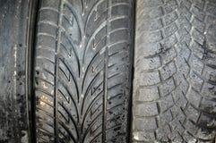 Neumáticos usados Fotos de archivo libres de regalías