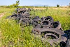 Neumáticos usados Fotografía de archivo