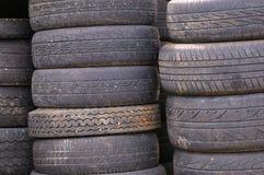 Neumáticos usados Fotografía de archivo libre de regalías