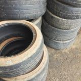 Neumáticos usados Imagen de archivo