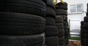 Neumáticos usados, análisis del motor de coche metrajes