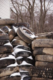 Neumáticos viejos Foto de archivo