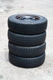Neumáticos viejos Foto de archivo libre de regalías