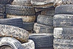 Neumáticos viejos Imagen de archivo