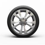 Neumáticos y rueda de automóvil Imagen de archivo libre de regalías