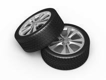 Neumáticos y ruedas de automóvil Imagen de archivo libre de regalías