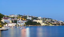 Neum city in the evening, a popular tourist resort in Bosnia and Herzegovina. Europe Royalty Free Stock Image