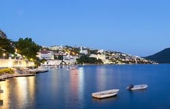 Neum city in the evening, tourist resort in Bosnia and Herzegovina Stock Photography