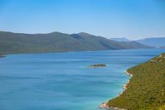 Neum and Peljesac. View of the coast of Neum at Adriatic sea and peninsula Peljesac in Neum, Bosnia and Herzegovina Stock Photo