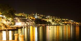 Neum resort, beautiful night landscape, Bosnia and Herzegovina. Europe Stock Photo