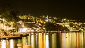 Neum resort, beautiful night landscape, Bosnia and Herzegovina Royalty Free Stock Photography
