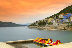 Neum town beach. Neum is Bosnia and Herzegovina only town located on the Adriatic coast and a top resort vacation for travelers who want to enjoy the sun without Stock Images