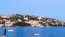 Neum town in the evening, tourist resort in Bosnia and Herzegovina. Europe Stock Images