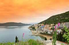 Neum town panorama Royalty Free Stock Photos