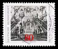 Neumann, Balthazar, 300th Birth Anniversary serie, circa 1987. MOSCOW, RUSSIA - FEBRUARY 10, 2019: A stamp printed in Germany, Federal Republic, shows Neumann royalty free stock image