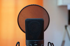 Neumann U87 microphone Stock Photo
