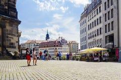 Neumarkt en Dreseden fotos de archivo
