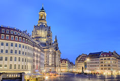 Neumarkt and Frauenkirche, Dresden Stock Photography
