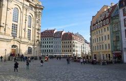 Neumarkt-I-Dresden-Duitsland Stock Foto's