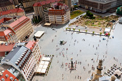 Neumarkt square in dresden Royalty Free Stock Images