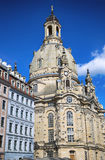 Neumarkt Square at Frauenkirche Our Lady church in the center Stock Images