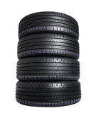 Neumático de coche Imágenes de archivo libres de regalías