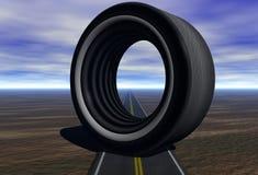 Neumático grande Fotos de archivo libres de regalías