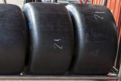 Neumáticos de la raza del deporte Fotografía de archivo