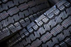 Neumáticos del camión con la pisada grande Fotos de archivo