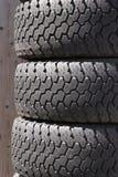 Neumáticos empilados Fotografía de archivo