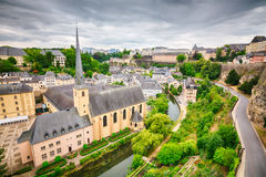 Neumuenster Abbey in Luxemboug City Stock Photography