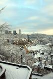 Neumuenster Abtei im Schnee Stockbilder