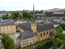 Neumunster Abbey, Beautiful Landmark at the Grund Lower City of Luxembourg City Royalty Free Stock Photo