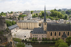Neumunster Abbey in Luxembourg City Stock Image