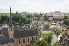 Neumunster Abbey in Luxembourg City Stock Photo