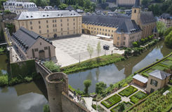 Neumunster Abbey in Luxembourg City Stock Photography