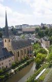 Neumunsterabdij in de stad van Luxemburg Stock Afbeelding