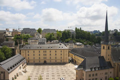 Neumunsterabdij in de stad van Luxemburg Stock Afbeeldingen